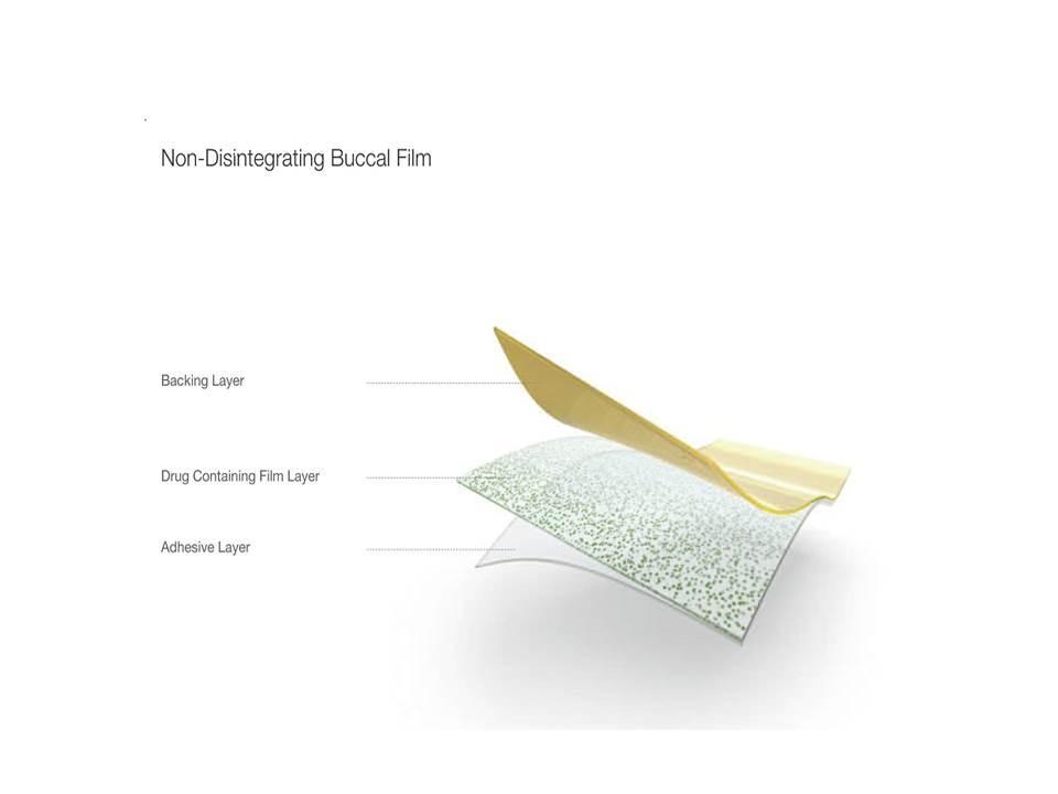 Orale Wirkstofffpflaster, hier: Non-Disintegrating Buccal Film