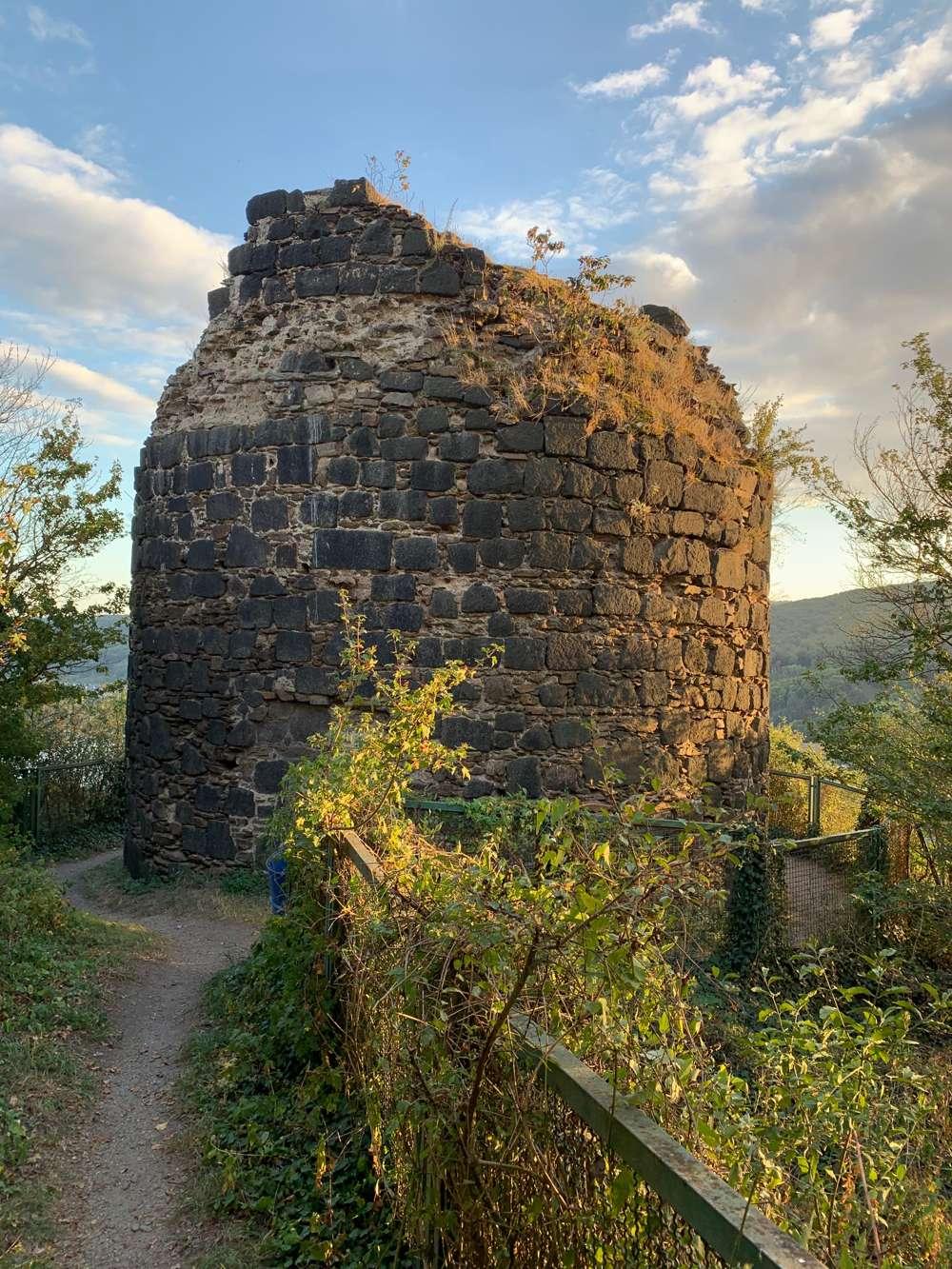 Die Burgruine der Burg Hammerstein