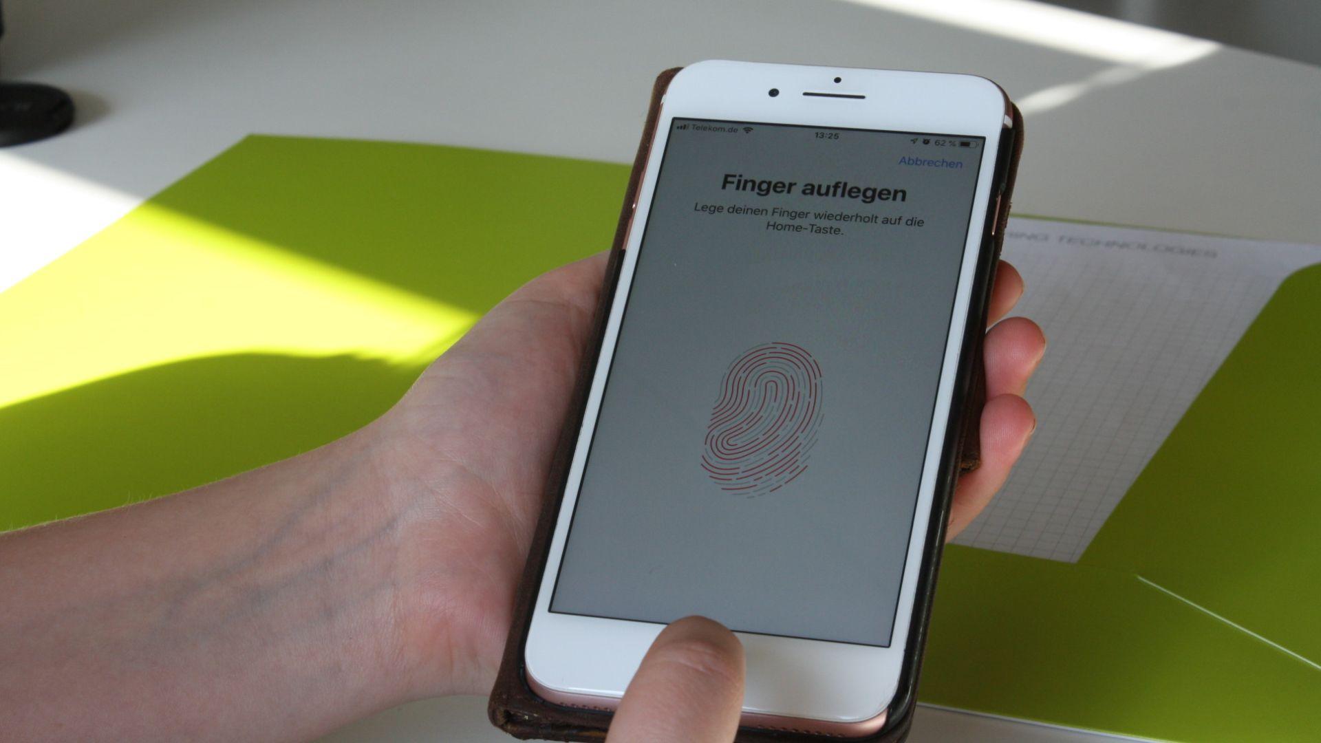 Datenschutz durch Hautkontakt mit dem Fingerabdrucksensor