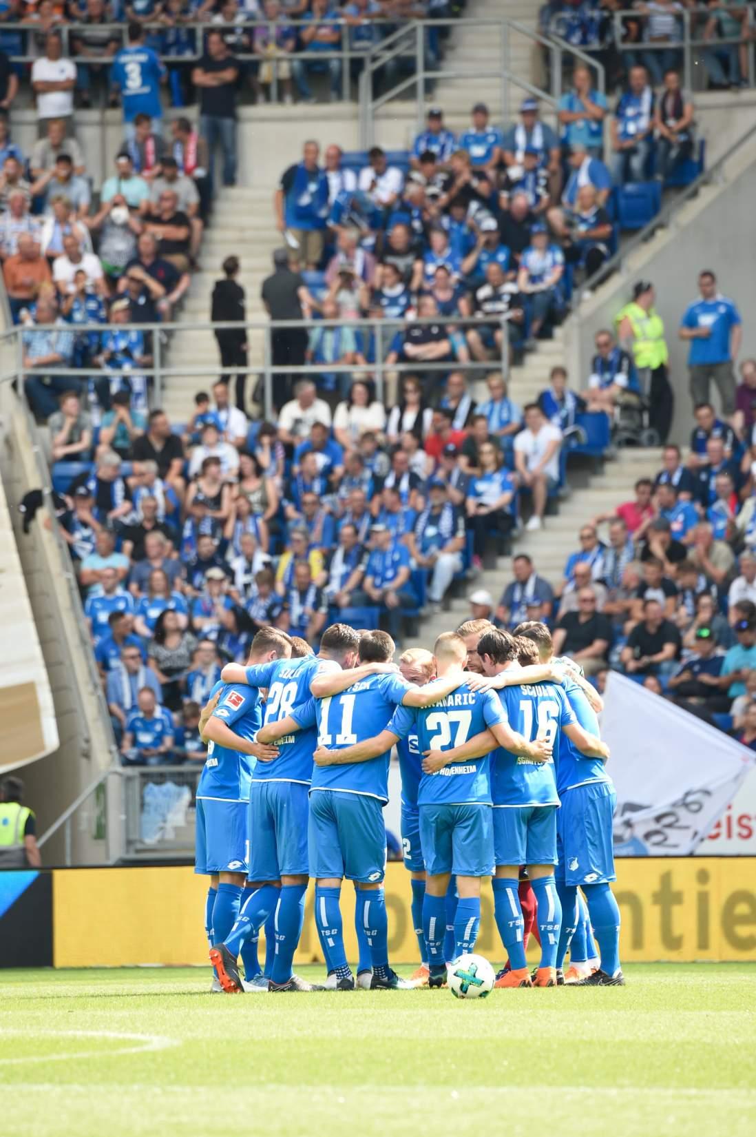 Die TSG Hoffenheim landete am 34. Spieltag sensationell auf dem dritten Tabellenplatz.